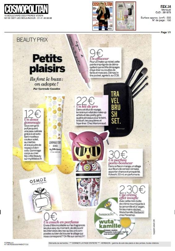 Herbacin dans Cosmopolitan - janvier 2014